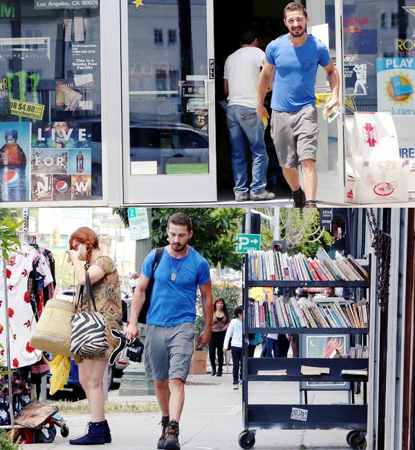 23 Mai : Shia Labeouf a été vu seul dans les rues de Echo Park en californie, trop beau !