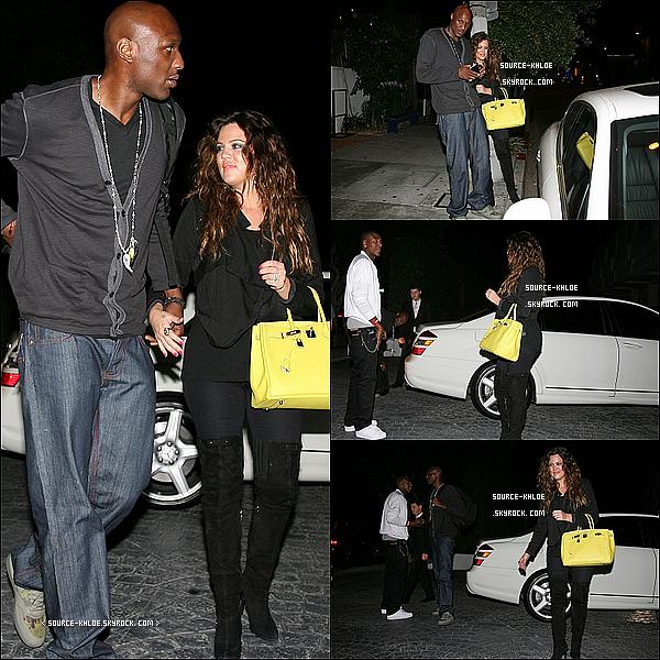 27 JUIN 2011  : Khloe et son Marie Lamar ont diner en amoureux au restaurant Little Door.