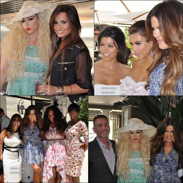 SITE OFFICIEL : Khloe a posté de nouvelles photos de la bridal shower de Kim.K Top Ou Flop ???? 22 Aout 2011: Khloe Kardashian & son mari Lamar se sont rendu dans un restaurant de los Angles