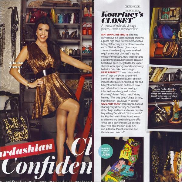 """Scans : Les soeurs Kardashians Sont Apparu dans le magazine Instyle de Septembre 2011 """"kardashian closet confidential"""""""