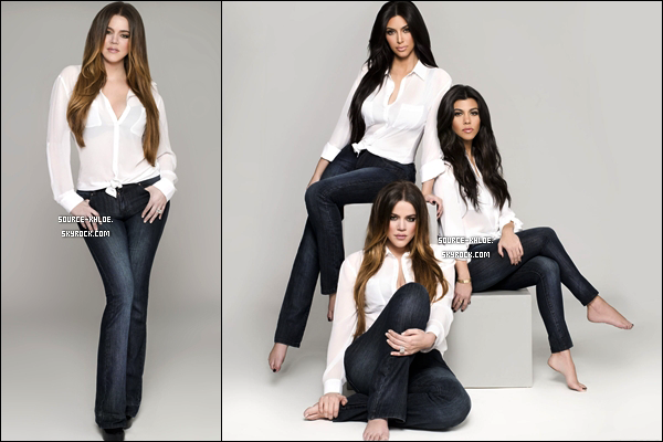 .    Photo Promotionnelle :Khloé, Kourtney et Kim pour la Kardashian Kollection Denim by Nick Saglimbeni  .