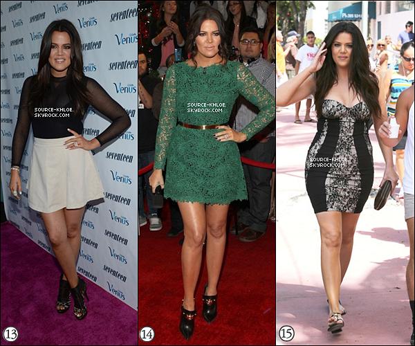 .           Les Meilleurs tenue & les Pires tenues de Khloé Kardashian 2012, Top ou Flop ?