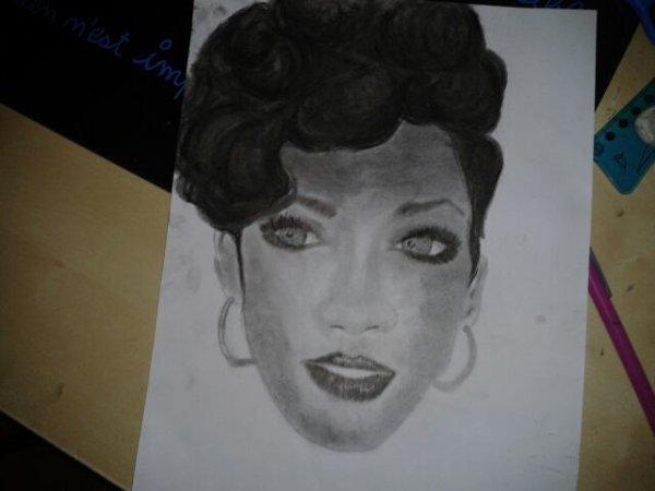 My drawing of Rihanna ;)