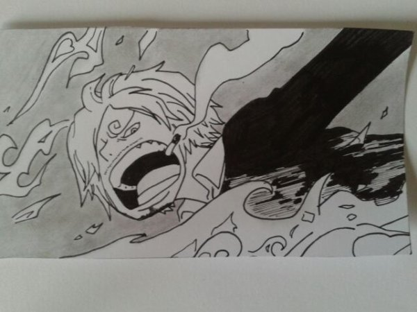 My drawing of Sanji from One Piece ;)