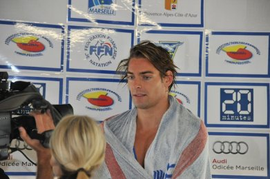 Camille Lacourt et d'autres nageurs