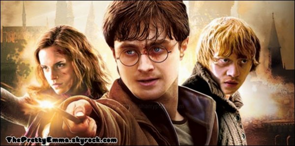 .   Nouvelle photo d'harry potter avec daniel radcliffe et rupert grint ! .
