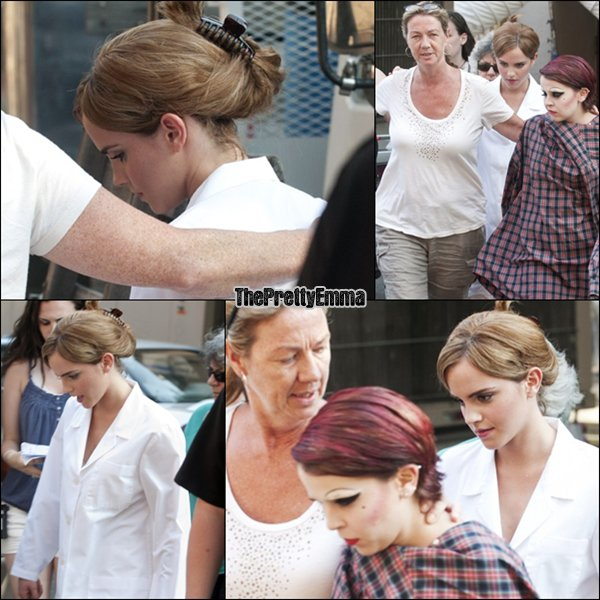 ".Emma sur le tournage de ""The perks of being a wallflower "" elle tourne la scene de rocky horror show picture !  ."
