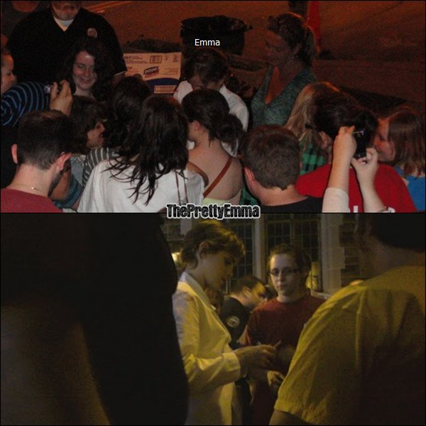 .1/06 : Emma signant des autographes au fans !  .