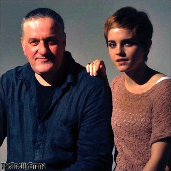 .Emma avec Mark Demsteader , le peintre qui a recement fait des toiles d'Emma.   .