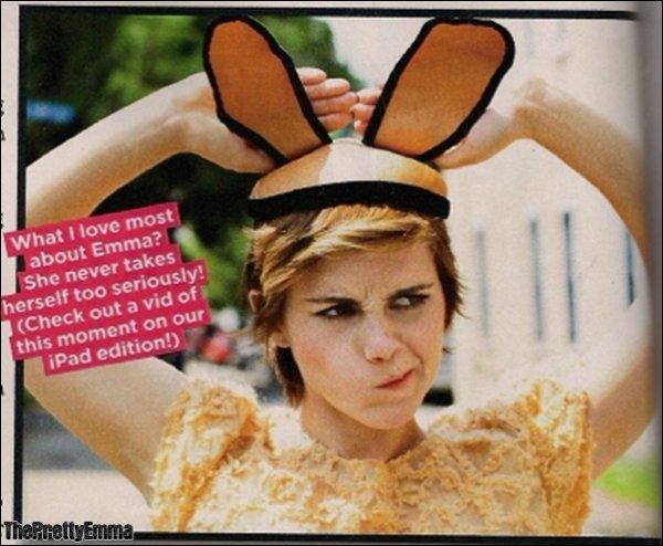.Emma fait également la couverture du magazine brésilien Atrevida !  .