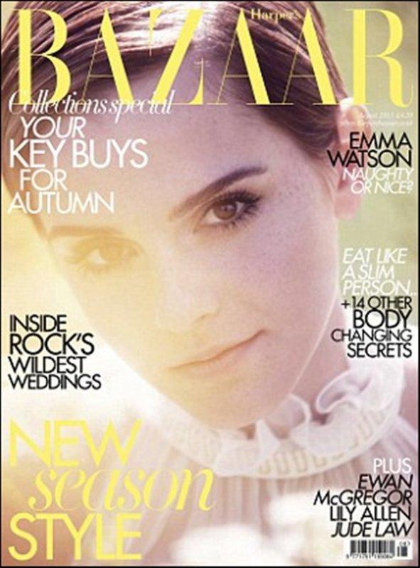 .Emma fait aussi la couverture de  HARPER'S BAZAAR , le magazine sera en vente le 7/07 !  .