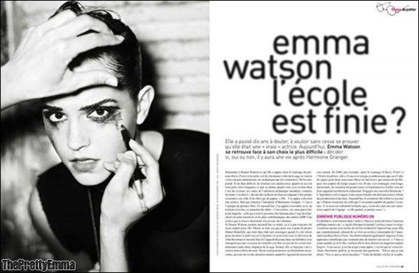 """.Emma dans le magazine Français """"Première""""!   ."""