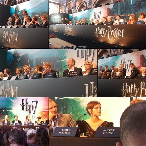 .06/07 : La conférence de presse du dernier film d'Harry Potter !  .