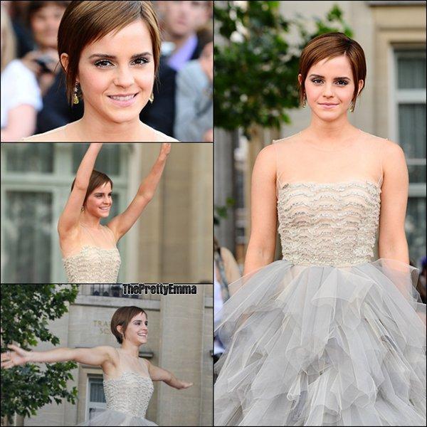 .07/07 : Emma à l'avant première mondiale d'Harry Potter 7 partie 2 , à Londres ! Vos Avis ?  .