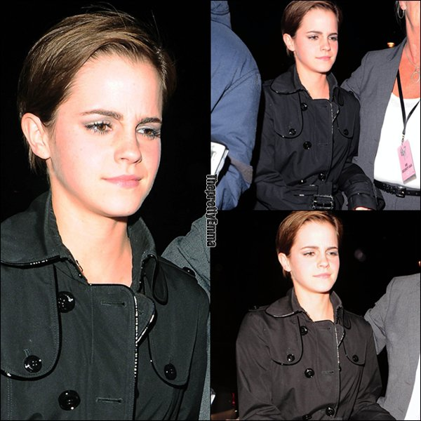 .07/07 : Emma rentrant à l'Hotel après l'avant première !  .