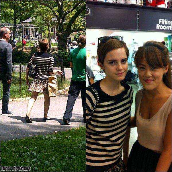 .Emma à été vu à Central Park avec son père et son frère Alex + une photo de fan !  .
