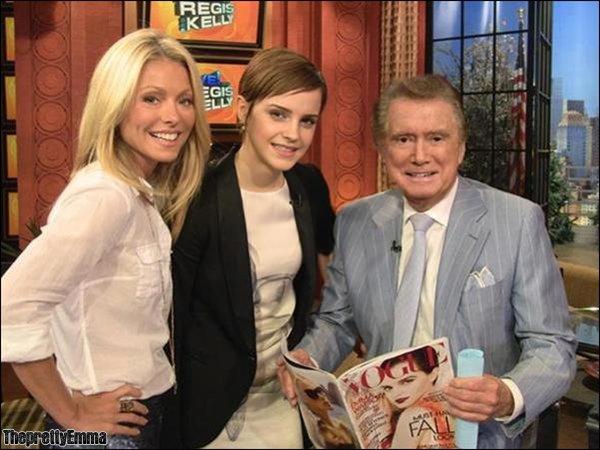 """.Emma au """"Regis & Kelly Show""""   ."""