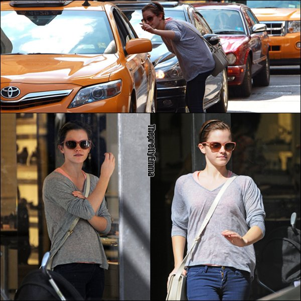 .Emma était dans le quartier de Soho à New york en train de faire du shopping !  .