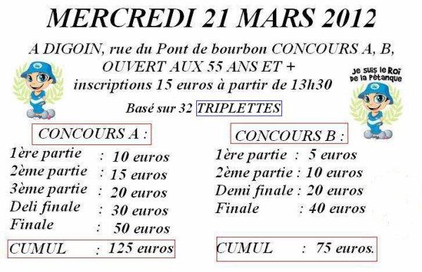 CONCOURS 55 ANS ET + DU 21.03.2012.