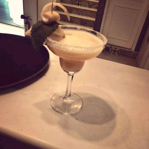 Margarita juice with tequila