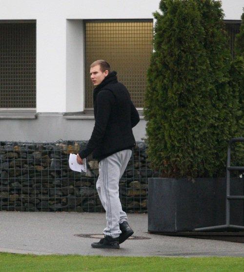 Holger au centre d'entrainement (24.11.2013)