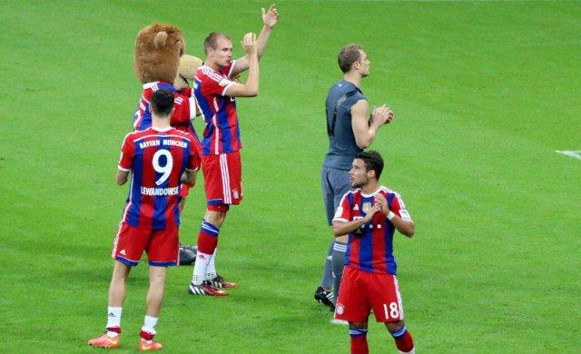 Bundesliga : Bayern 2 - 1 Wolfsburg (22.08.2014)