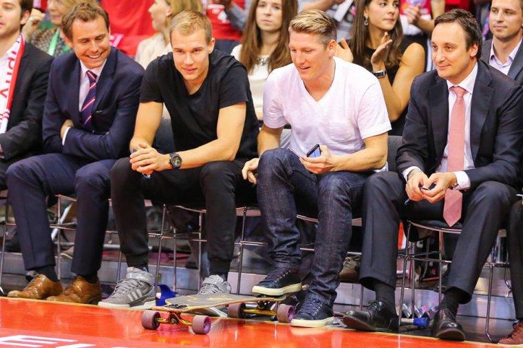 Holger et Bastian au match du FC Bayern Basketball (23.10.2014)