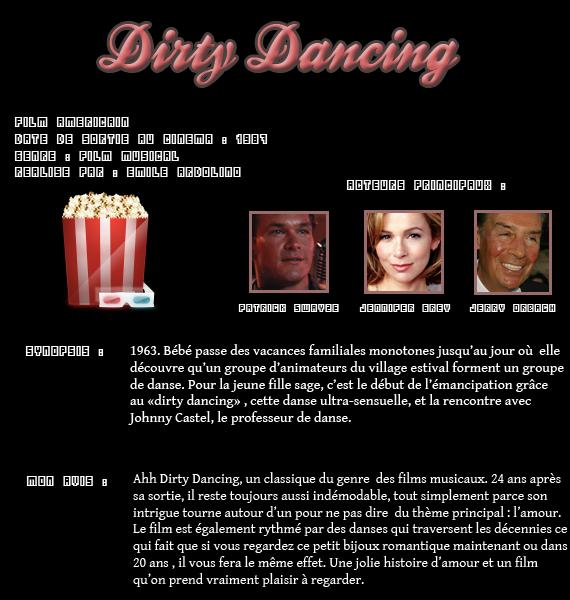 ** Film :  Dirty Dancing  **