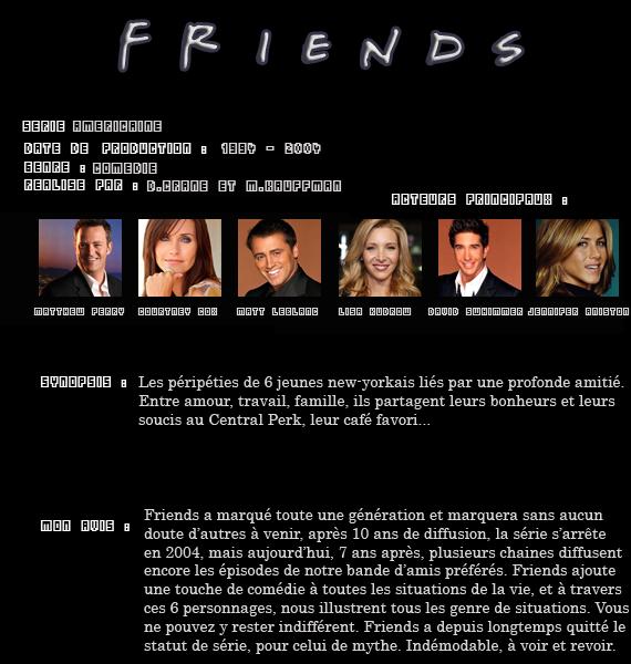 ** Série : Friends  **