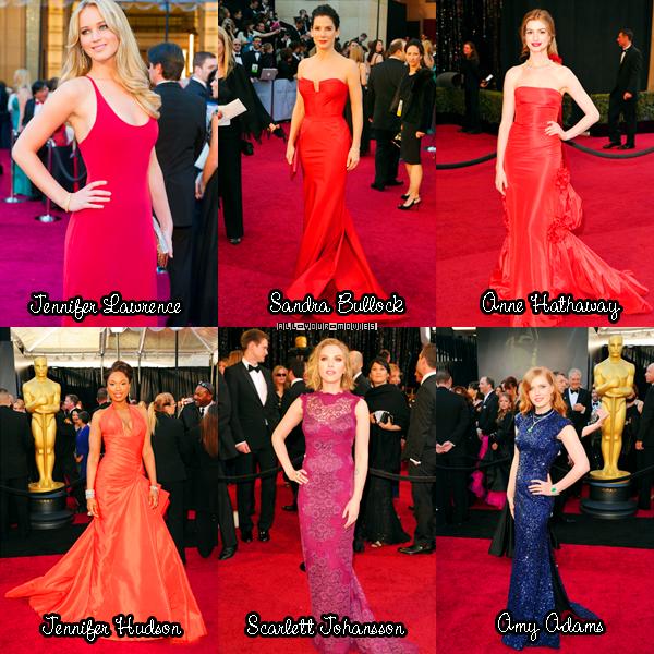 ** Cérémonie : Les Oscars.  Que penses-tu des gagnants ? Du tapis rouge ? Quelle est pour toi LA tenue TOP et LA tenue FLOP ? Pour ma part , TOP : Reese Witherspoon, FLOP : Cate Blanchett  **
