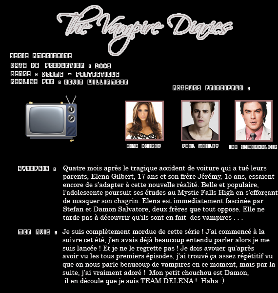 ** Série : The Vampire Diaries  **
