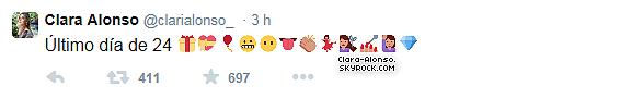 .  Découvre des photos Personnelles de Clara posté sur Twitter les 2 derniers jours !  .