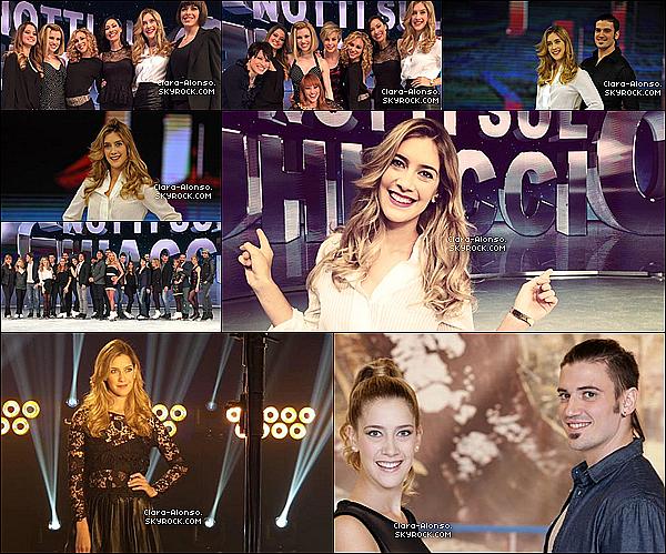 .  19/02/2015 : Clara  a été prise en photo entrain de tournée une nouvelle série italienne : Notti Sul Ghiaccio ! Série Portant sur le Patinage Artistige ! .