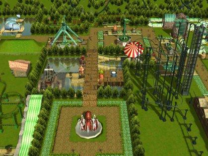 Vue sur attractions