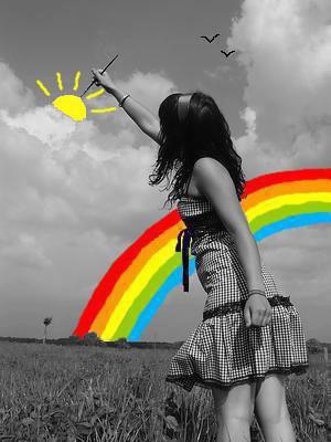 si dans ta vie c'est gris et ennuyeux , prend de la couleur et redessine ta vie