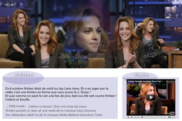 Kristen au Jay Leno show :