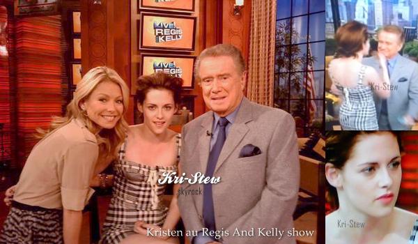 EXCLU ! Kristen - 19 octobre - Regis and Kelly show : Let's follow Kristen Stewart on Kri-Stew  ©