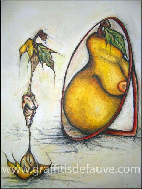 Peinture à l'huile - Anorexie