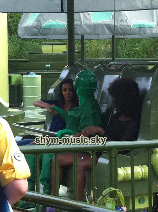 shy'm a Disneyland le 3 septembre