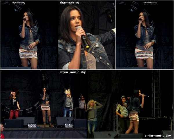 Shy'm au Nrj Music Tour à Lille pendant les répétitions (16.04.11)