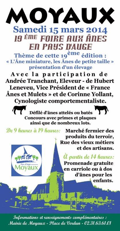 19ème édition de la Foire aux Ânes 2014 de MOYAUX