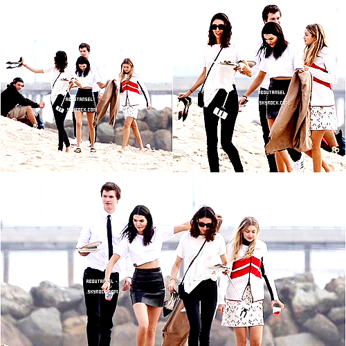 Making a photoshoot on Venice Beach | January 2015 (Date : January, 30,2015 w/ Gigi Hadid & Kendall Jenner) ____________________________________________ (♥) l'article pour être prévenu du prochain.