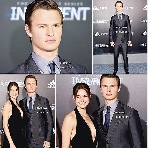 Insurgent - Premiere in NYC | March 2015 ____________________________________________ (♥) l'article pour être prévenu du prochain.