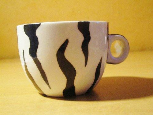 Tasse Zèbre en Porcelaine