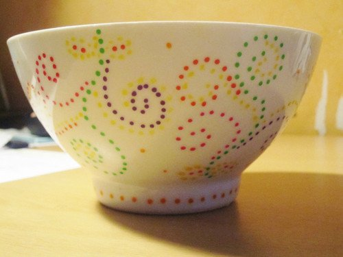 Bol Points Porcelaine