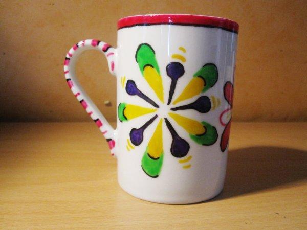 Mug fleurs en Porcelaine