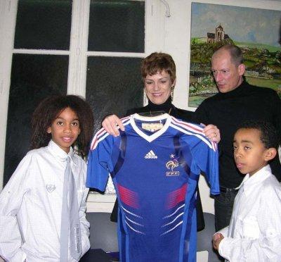 Chantal JOUANNO  Ministre Sports & William Mengne & Kenny Mengne