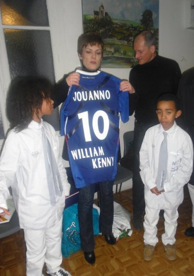 Chantal JOUANNO  Ministre Sports & William Mengne & Kenny Mengne