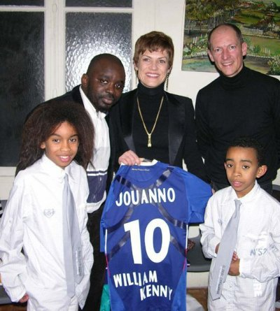 Chantal JOUANNO  Ministre Sports & William Mengne & Kenny Mengne & Papa