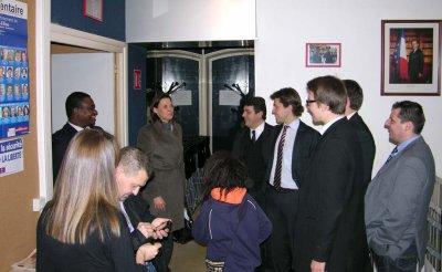 ISABELLE DEBRE Sénateur des Hauts-de-Seine   SOURIANT FACE A FACE  WILLIAM MENGNE